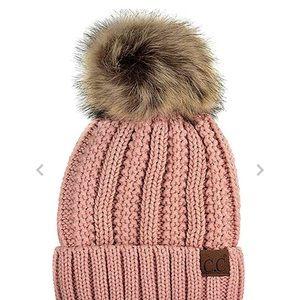 Accessories - Pink Pom Pom Beanie Hat